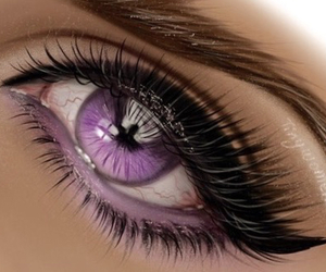 make up, mascara, and purple image
