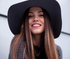 girl, smile, and hat image