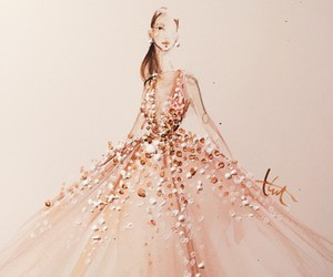 fashion, dress, and art image
