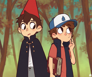 gravity falls, wirt, and over the garden wall image