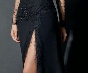 selena gomez, dress, and black image