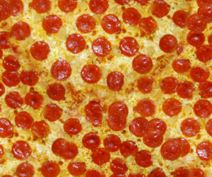 background, pizza, and red image