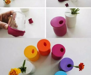 diy, balloons, and flowers image