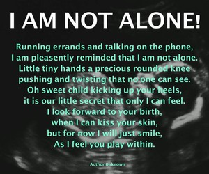 motherhood, pregnancy, and not alone image