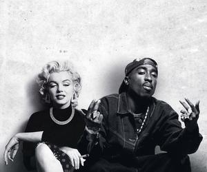 tupac, 2pac, and Marilyn Monroe image