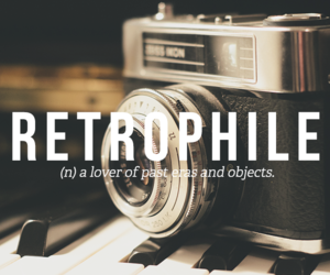 words, past, and retro image