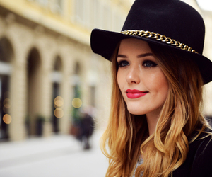 blonde, hat, and style image