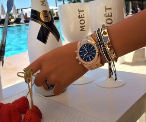luxury, watch, and moet image