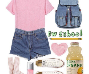 look, school, and shorts image