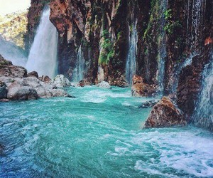 nature, water, and cascate image