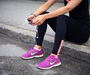fitness, nike, and run image