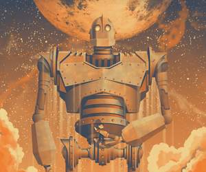 cartoon and the iron giant image