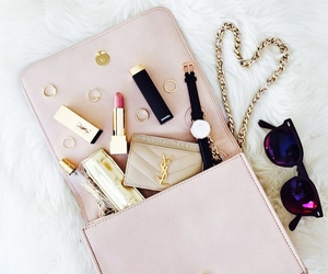 fashion, makeup, and bag image
