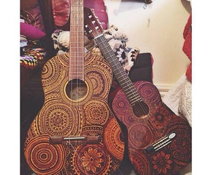 music, guitar, and love image