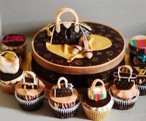 cake, cupcake, and Louis Vuitton image