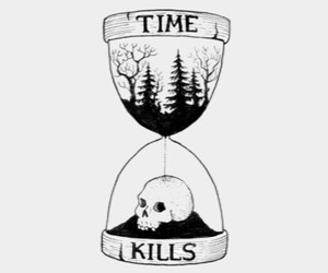 kill, skull, and time image