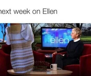 ellen, dress, and funny image