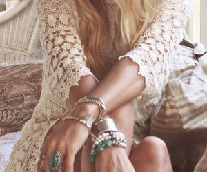 boho, girl, and jewelry image