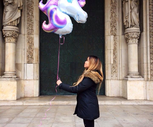 asian, ballon, and blonde image