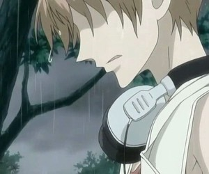 anime, hikaru, and rain image