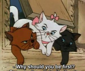 cat, lady, and disney image