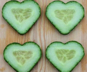 food, cucumber, and heart image