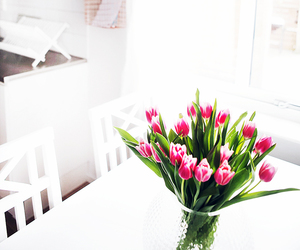 decoration and tulips image