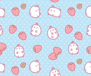cute, strawberry, and wallpaper image