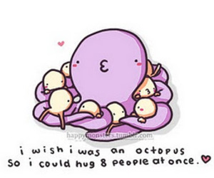 hug, cute, and octopus image