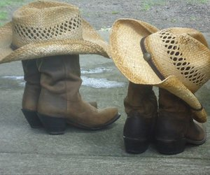 boots, cowboy, and hats image