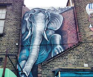 elephant, art, and street art image