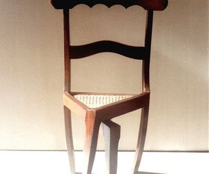 chair, weird, and whaaat image