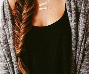 braid, cardigan, and fashion image
