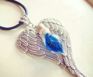 angel, feathers, and jewelry image