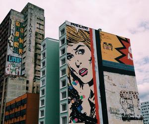 grunge, art, and city image