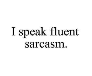 sarcasm and quote image
