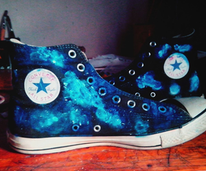 blue, converse, and infinity image