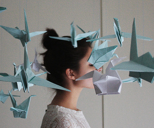girl and origami image