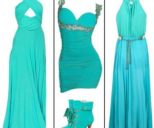 blue, outfits, and dress image