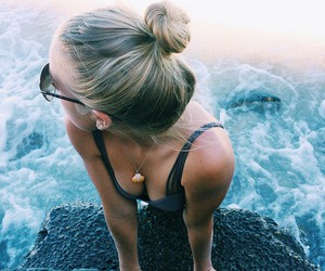 beach, travel, and girl image