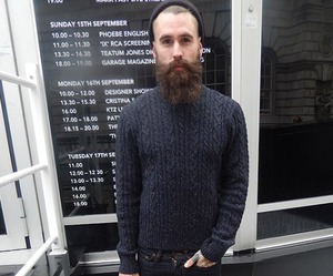 bearded, chic, and fashion image