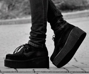 shoes, creepers, and black image