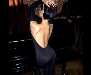 dress, black, and luxury image