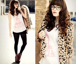 fashion, glasses, and girl image
