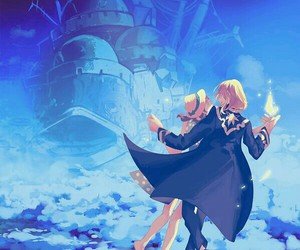 howl's moving castle and howl and sophie image