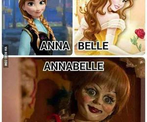 annabelle, belle, and funny image