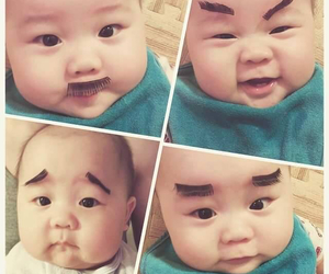 adorable, baby, and eyebrows image