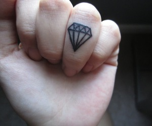 diamond, pale grunge, and hand image