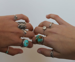 rings, ring, and hands image