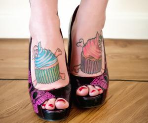 cupcake, tattoo, and girl image